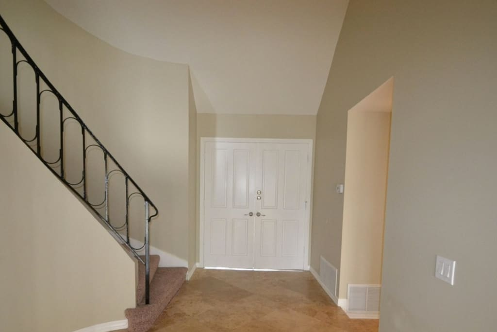 Entry way! you'll follow the stairs to your room upstairs!