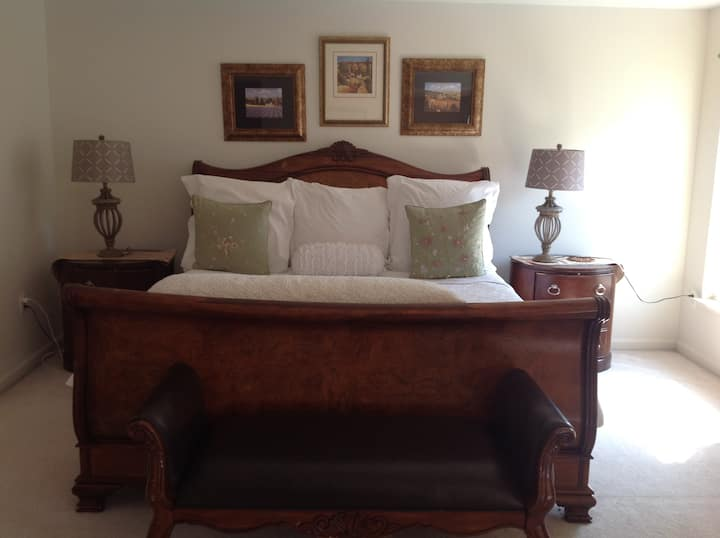 Immaculate cozy 5 star feel Master bedroom suite