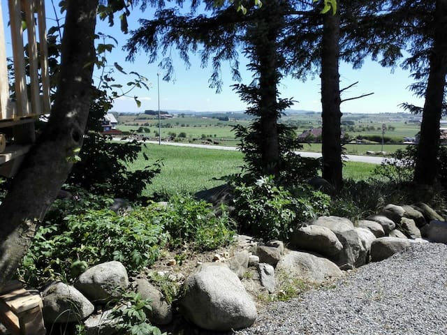 Stone fence garden