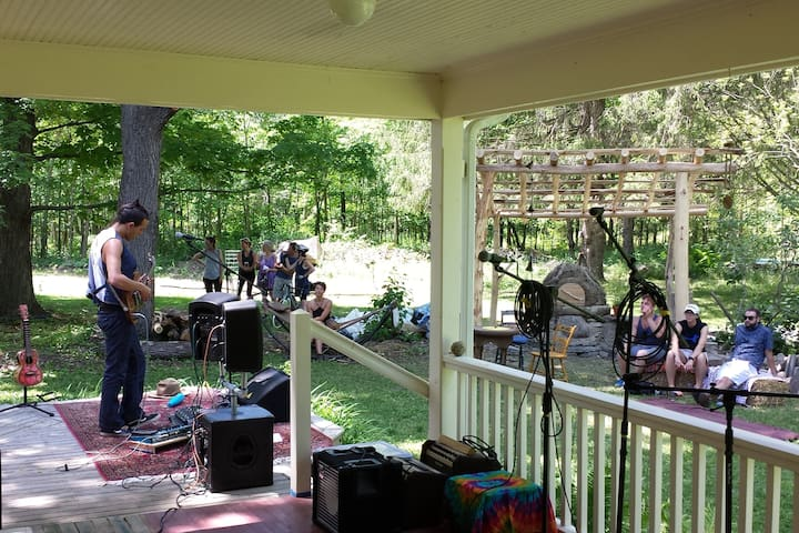 Back porch during Porchfest