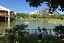 南ゾーンのボート池 nearby park