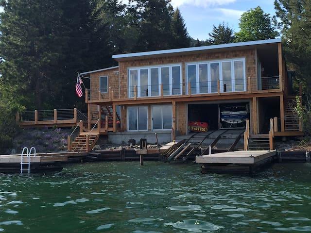 Gorgeous modern lake front house - Dayton - Casa