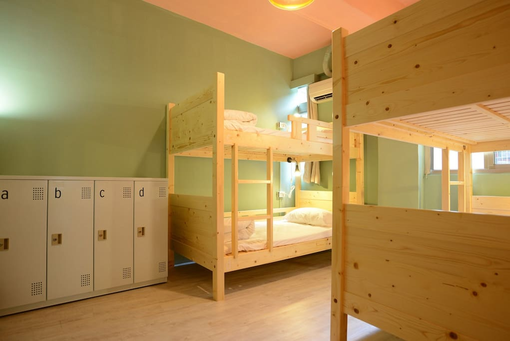 Our 4 beds suits, all beds coming with outlet plug, led lamp, comfortable mattress, comfy pillow, personal locker.