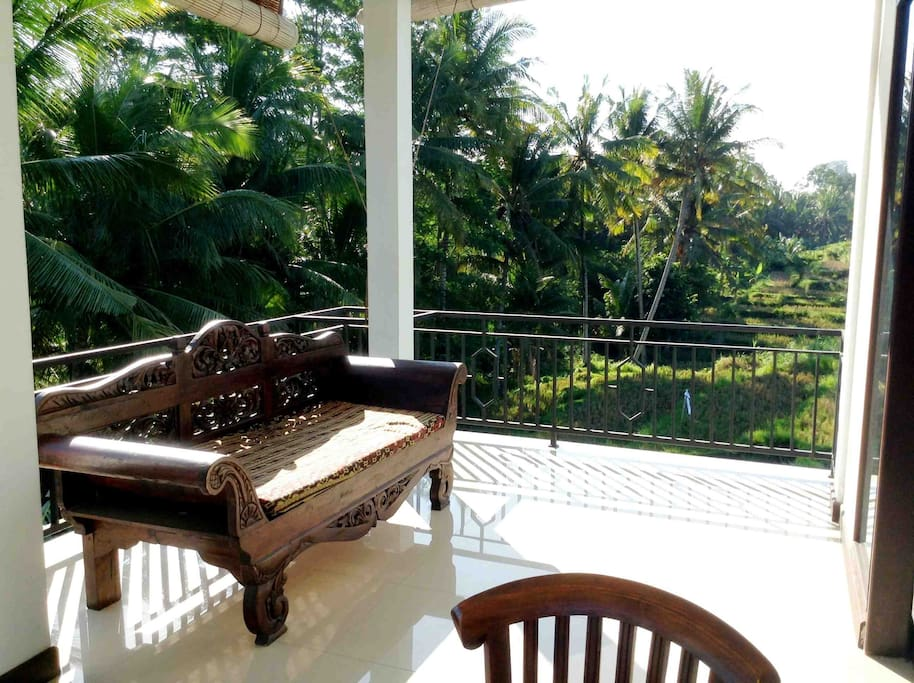 Amazing view from your Private Balcony.Imagine yourself reading a book here sipping on local tea.