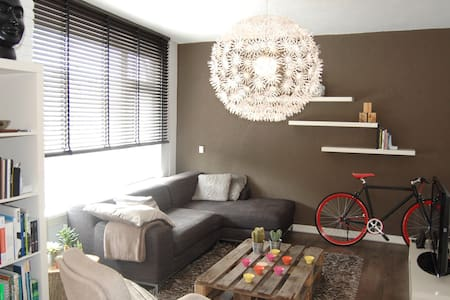 You get a very complete apartment close to the city centre.    Incl. - 2 citybikes to explore the city! - Livingroom - Bedroom - Bathroom - Toilet  - Kitchen  - Balcony  - FREE WIFI  -  WITH THE BIKE IN 10MIN TO THE CITY CENTRE