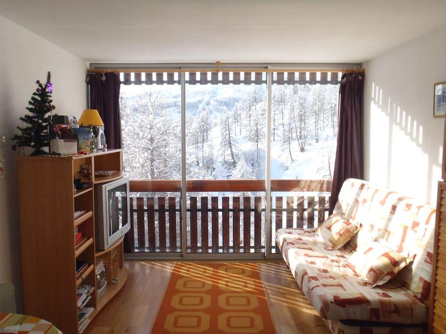 grand studio foux d allos wohnungen zur miete in la foux d allos provence alpes c te d 39 azur. Black Bedroom Furniture Sets. Home Design Ideas