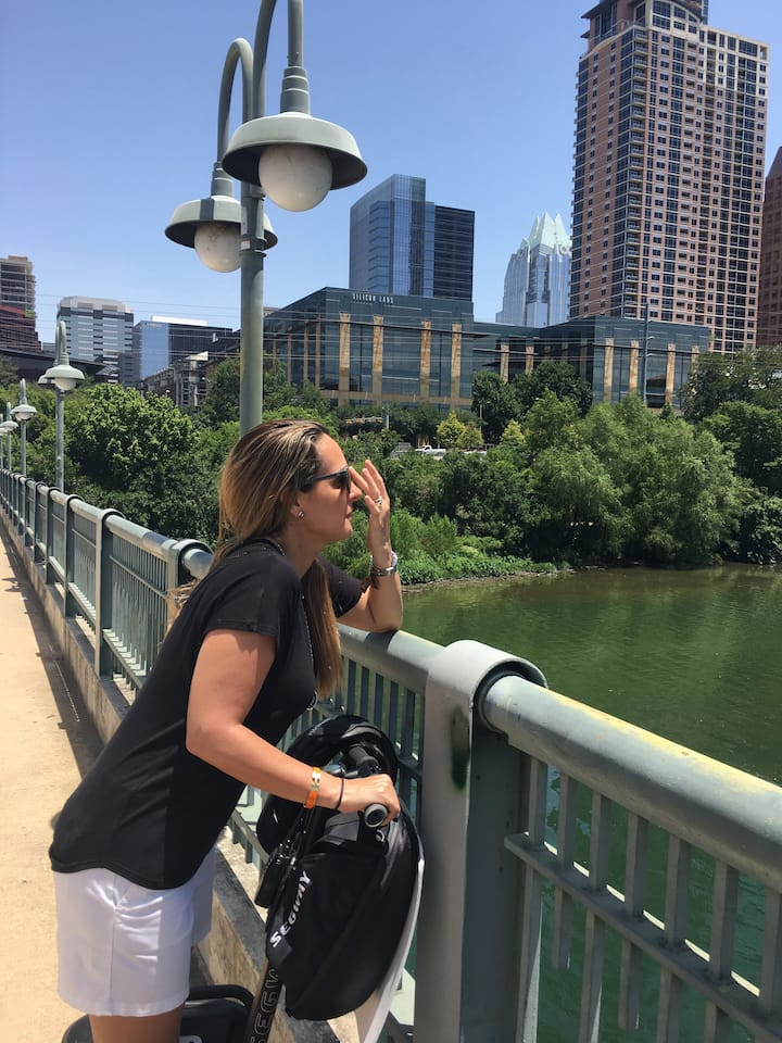 Taking in views of Ladybird lake