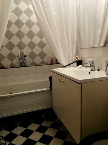 Ett av badrummen
