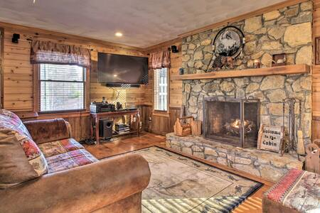 Family Cabin w/ Prvt Pool & Hot Tub by Fairy Stone