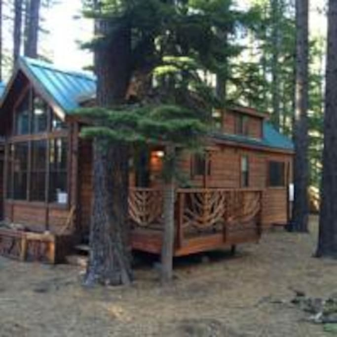 The cabin on the end gives a lot of privacy