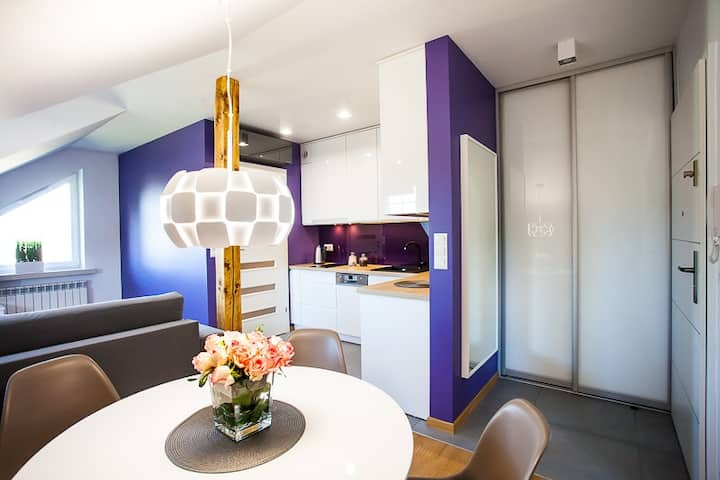 Violet Apartment in Wieliczka