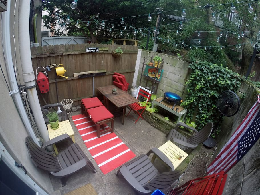 Backyard space. Note grille not available.