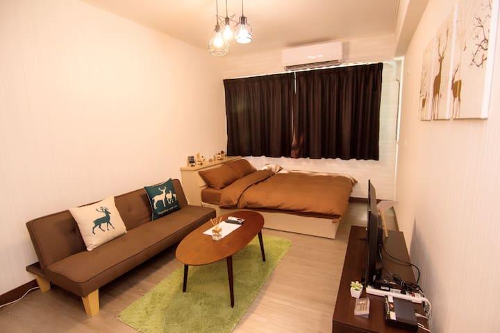 全新•正興街上•台南•美食•獨立套房•麋鹿MIRU - West Central District - Apartamento