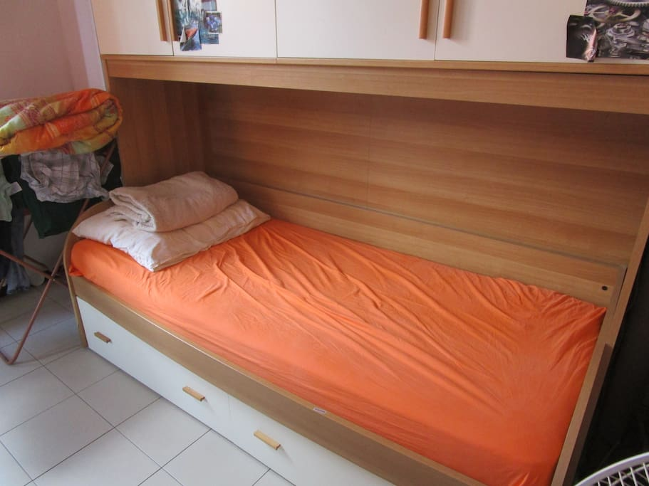 One bed of double room