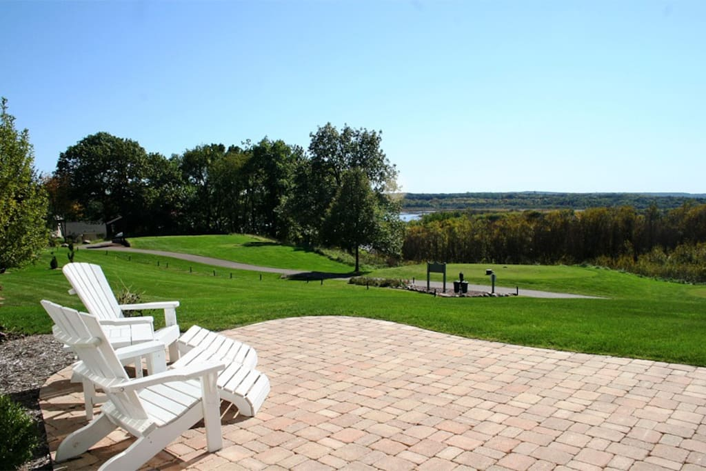 Patio overlooking the 1st hole