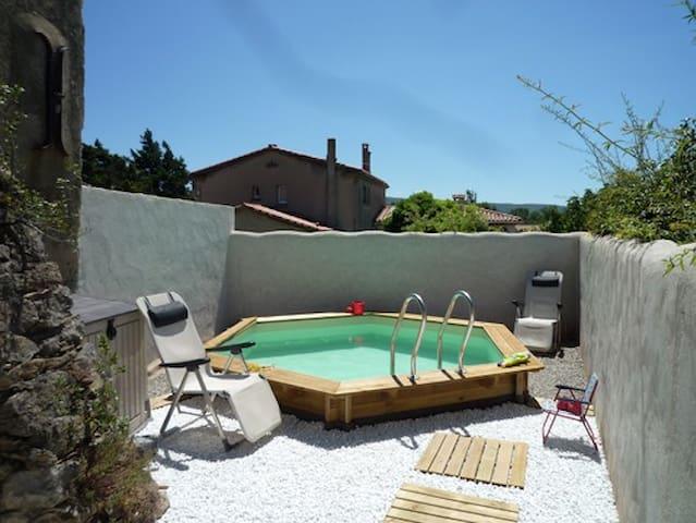 Maison ancienne avec piscine - Saint-Couat-d'Aude - Rumah