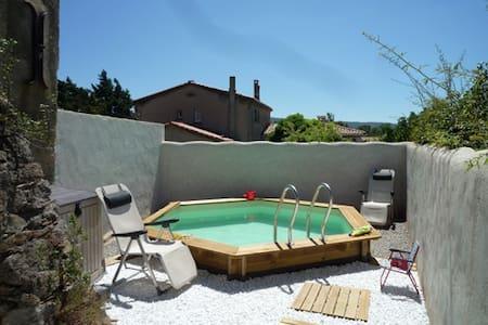 Maison ancienne avec piscine - Saint-Couat-d'Aude