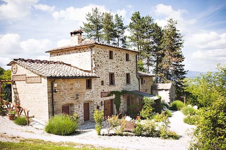 Gorgeous family friendly farmhouse with large pool - Caprese Michelangelo - Rumah
