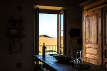 Leonina Hill's view from the kitchen