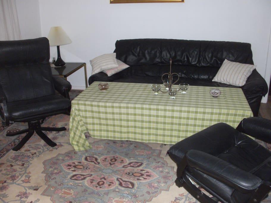 hyggelig sofa hjørnede