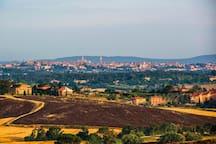 Siena Landscape from the Garden