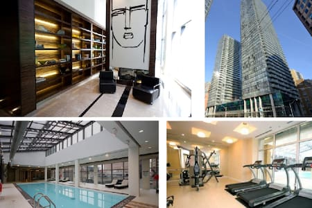 -1 Bedroom + Den, entire unit will be for the guest, but guest(s) will be staying in the den.  -Navigation:  Prime downtown location, 2 min walk to public transit and groceries  -North is Yorkville, South is Financial District -Pool and Gym access