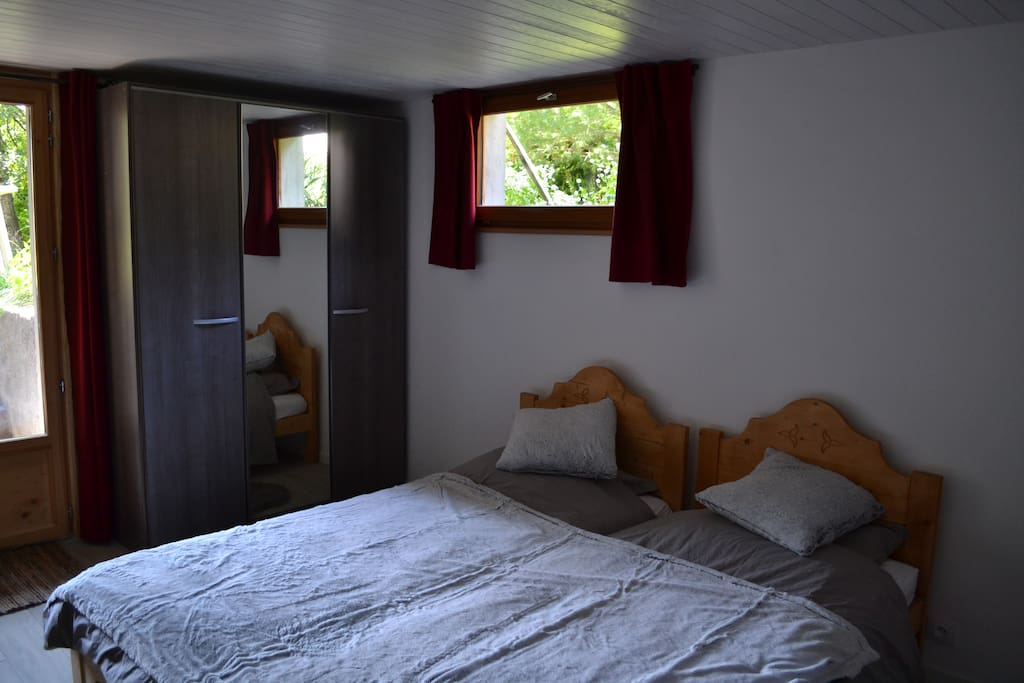 Lits simples ou grand lit au choix / twin or double bed
