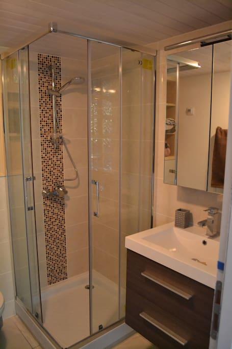 Salle de douche très agréable
