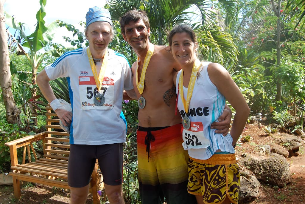 Reggae Marathon Runners, Just House is a favorite place for them to stay every December