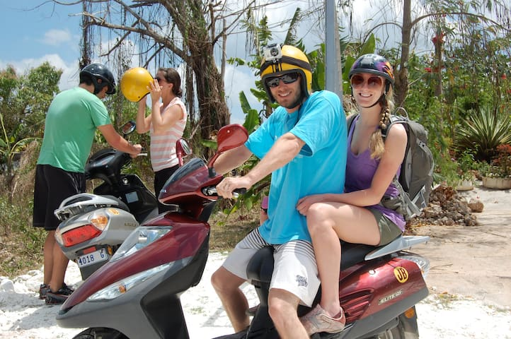 Scooters can be hired locally at a good price with Gas Bike Rentals