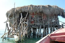 The famous Pelican Bar by Black River or Treasure Beach
