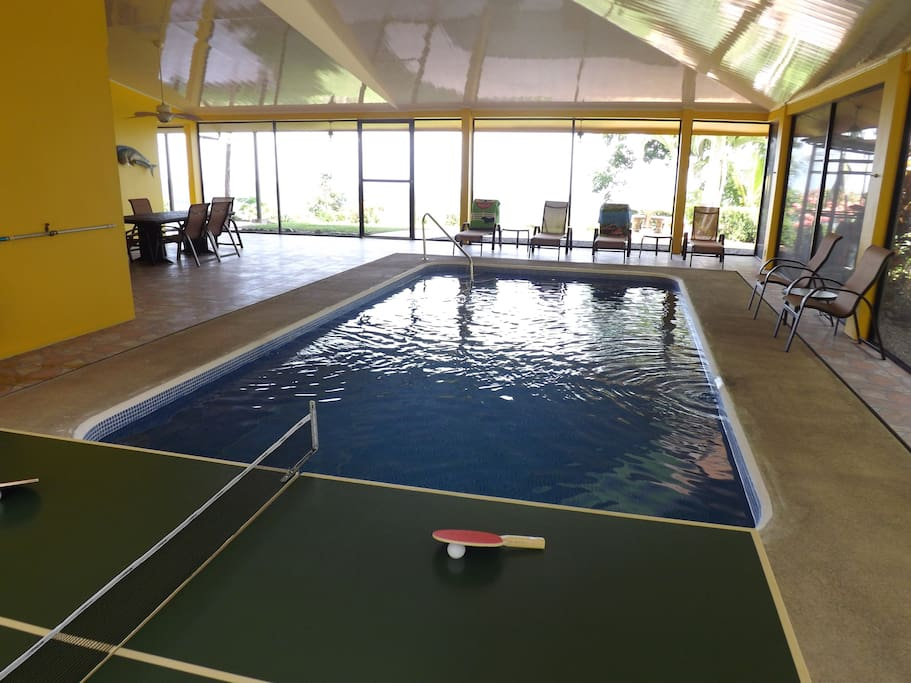 Enjoy a game of Ping-Pong by the Pool