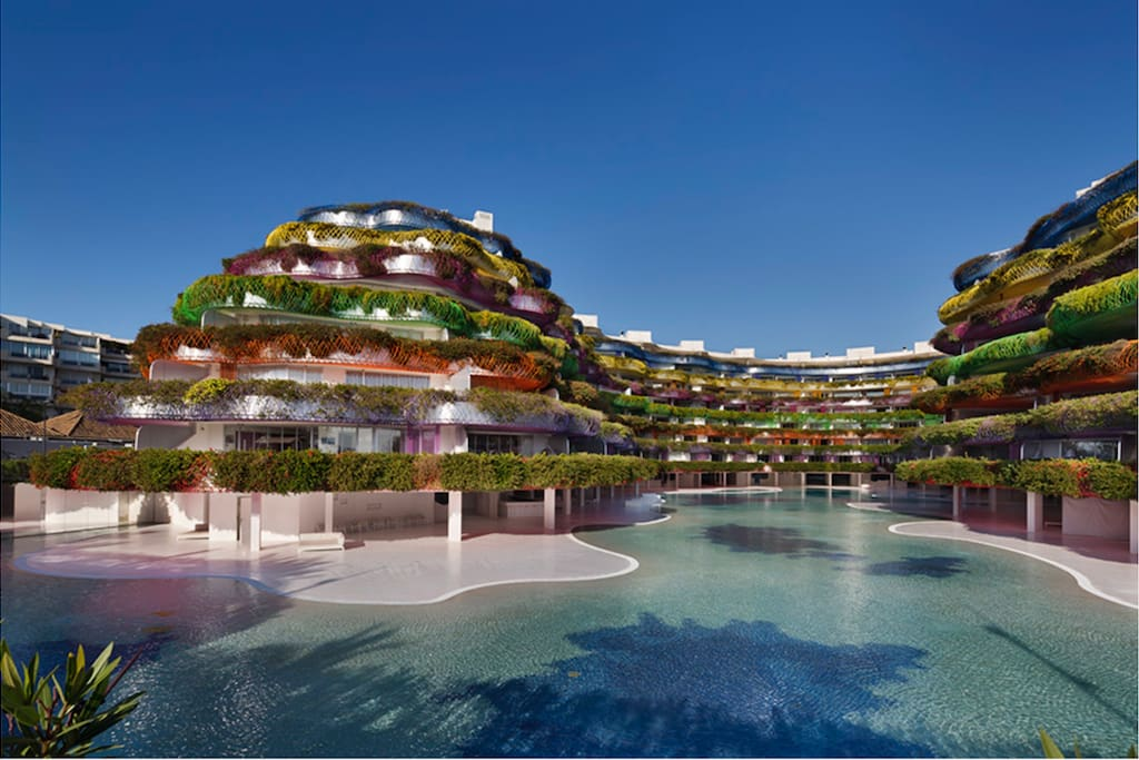 The biggest residential swimming pool in Spain