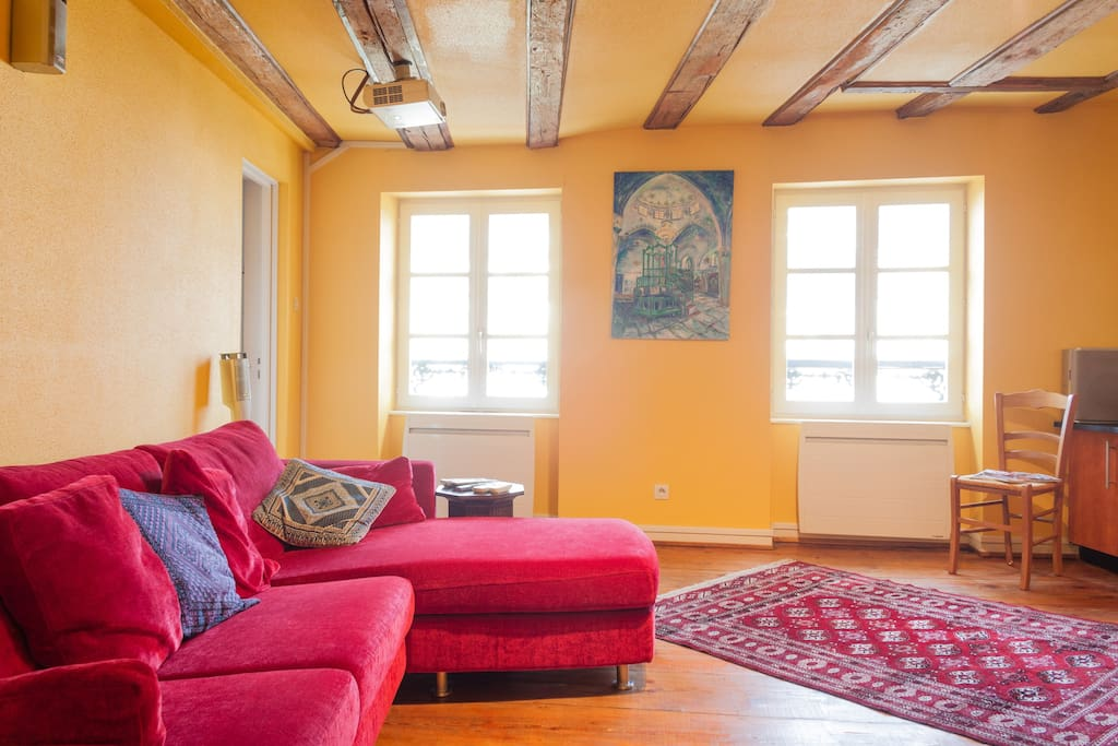 Le salon spacieux et lumineux - spacious and luminous living room