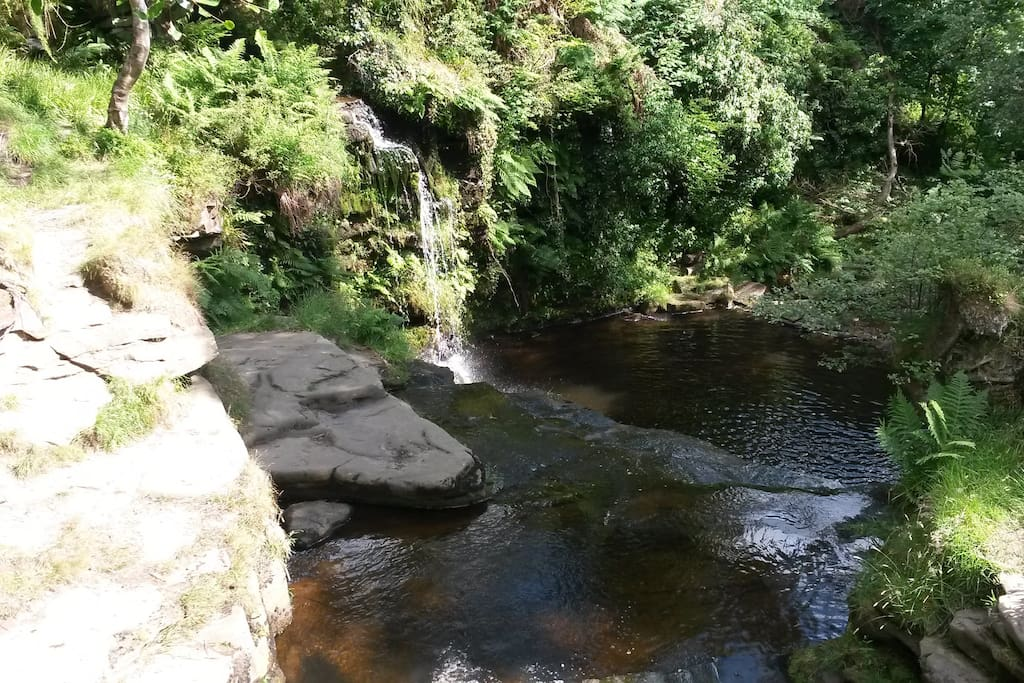 Lumb Falls situated below the property - a beauty spot suitable for a spot of bathing. It also provided the inspiration for a poem by Ted Hughes -Six Young Men'.