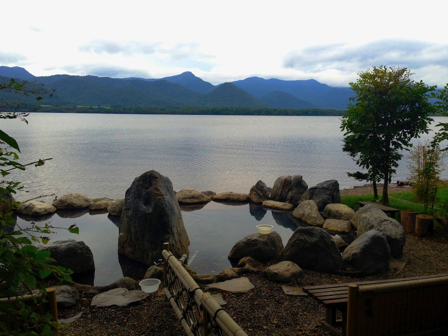 Hot Spring by the lake Kussharo. 3 min by walk from my house.