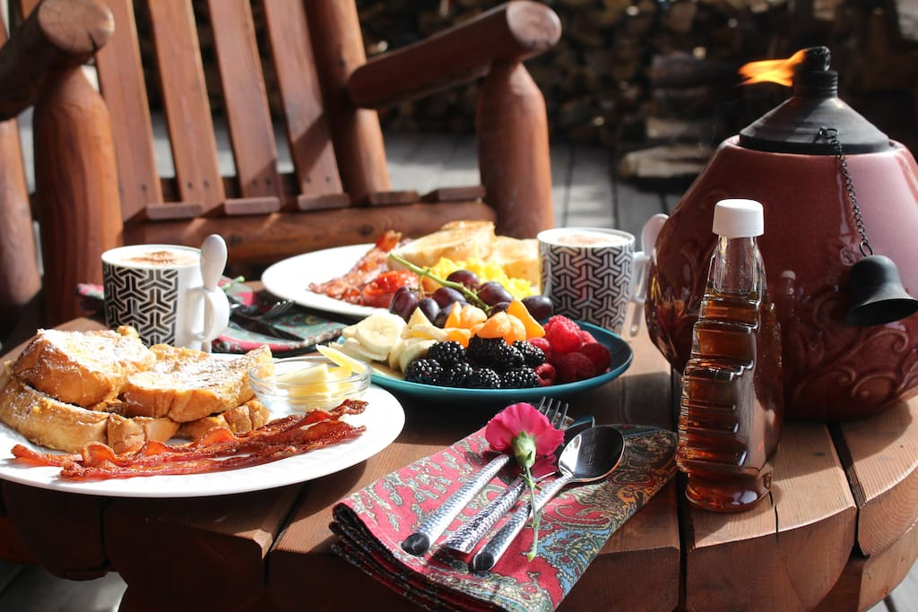 If you prefer, breakfast served on the deck in warmer months.