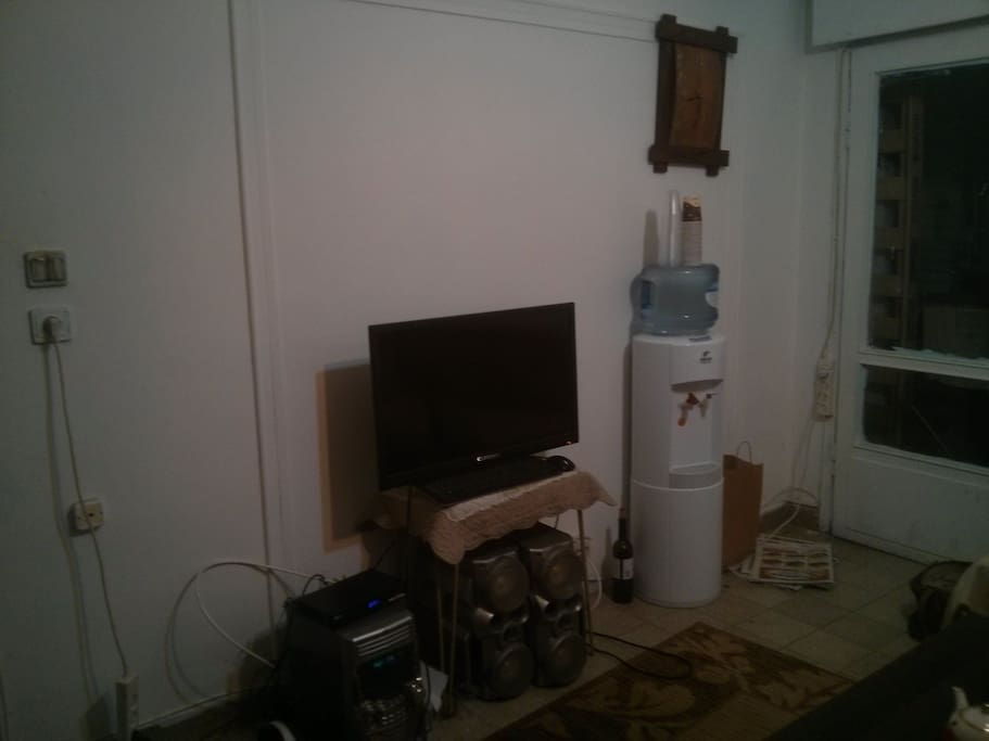 Cable TV+water coolder