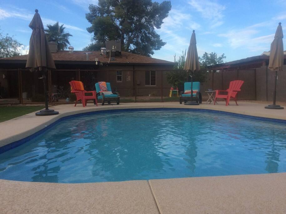 Outside pool access