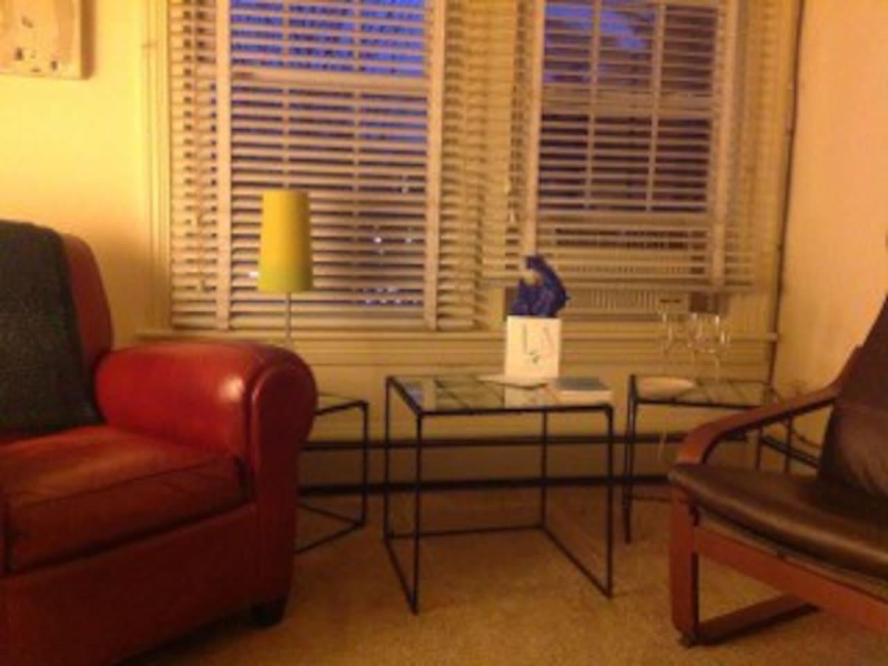 Living room--original paintings by Susanne King