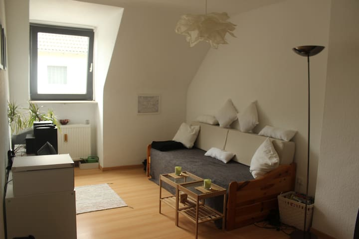 Room near city, airport and trade fair