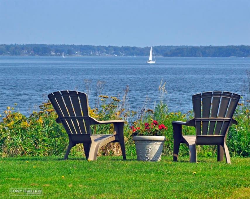 5 minute drive from our home is the  Eastern Prom Park  overlooking beautiful Casco Bay