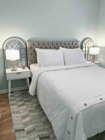 Comfy mattress and bedding because we know how it feels like to be away from home. We want you to be comfy!