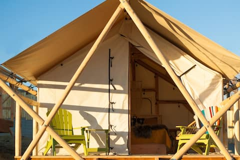 Boutique Camping Wall Tents @ Tiny Town Campground