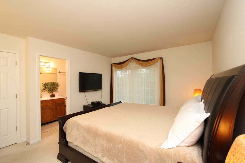 This Master Suite is rented separately if needed. Newly remodeled private bathroom and walk-in massage shower!