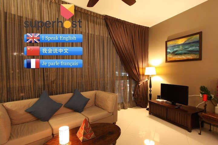 2 pi ces style balinais avec meubles en teck appartements louer kuala lumpur territoire. Black Bedroom Furniture Sets. Home Design Ideas