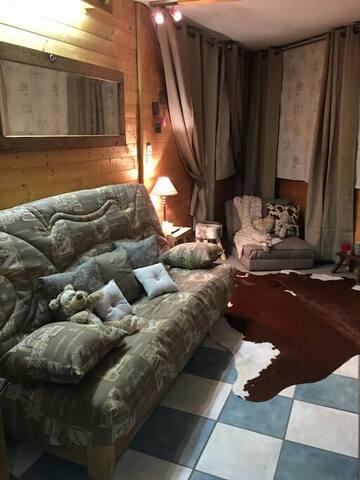 Le Chamois, appartement cosy et typique moderne