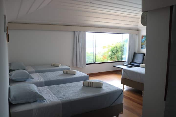 Suite en casa encantodomar com vista ao mar -wifi-
