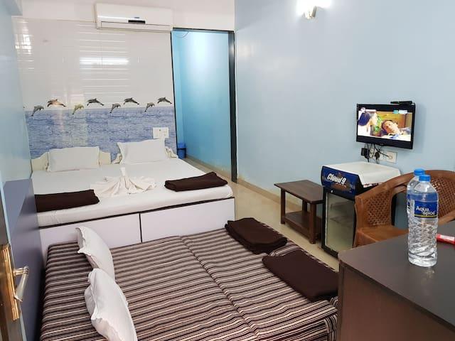 # 2 JAI JHULELAL PRIVATE ROOMS CALANGUTE BEACH