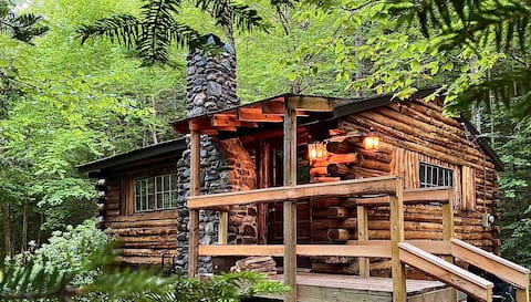 "Rustic Log Cabin #7 - ""Streamside"""